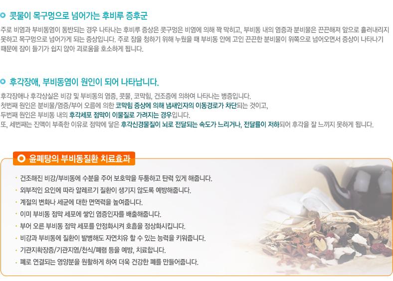 윤폐탕의 부비동질환 치료효과